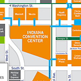 Downtown Indianapolis Skywalk Map