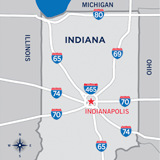 Visit Indy State Highway Map