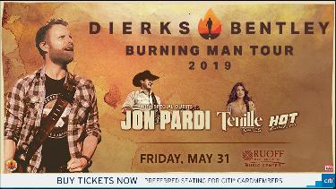 Win Two Tickets to See Dierks Bentley with Jon Pardi and Tenille Townes