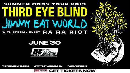 Win Two Tickets to See WOLT Presents Third Eye Blind & Jimmy Eat World with Ra Ra Riot