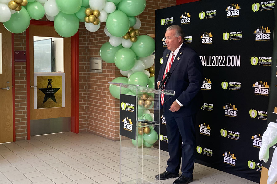 2022 COLLEGE FOOTBALL PLAYOFF HOST COMMITTEE AND CFP FOUNDATION UNVEIL FIRST MEDIA CENTER MAKEOVER AS PART OF LEGACY PROJECT 10