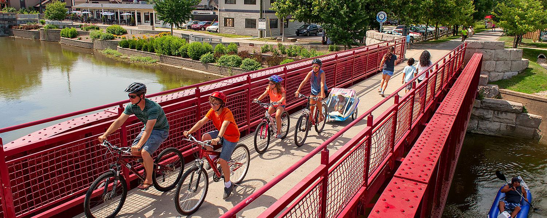 Riders on Second Bridge