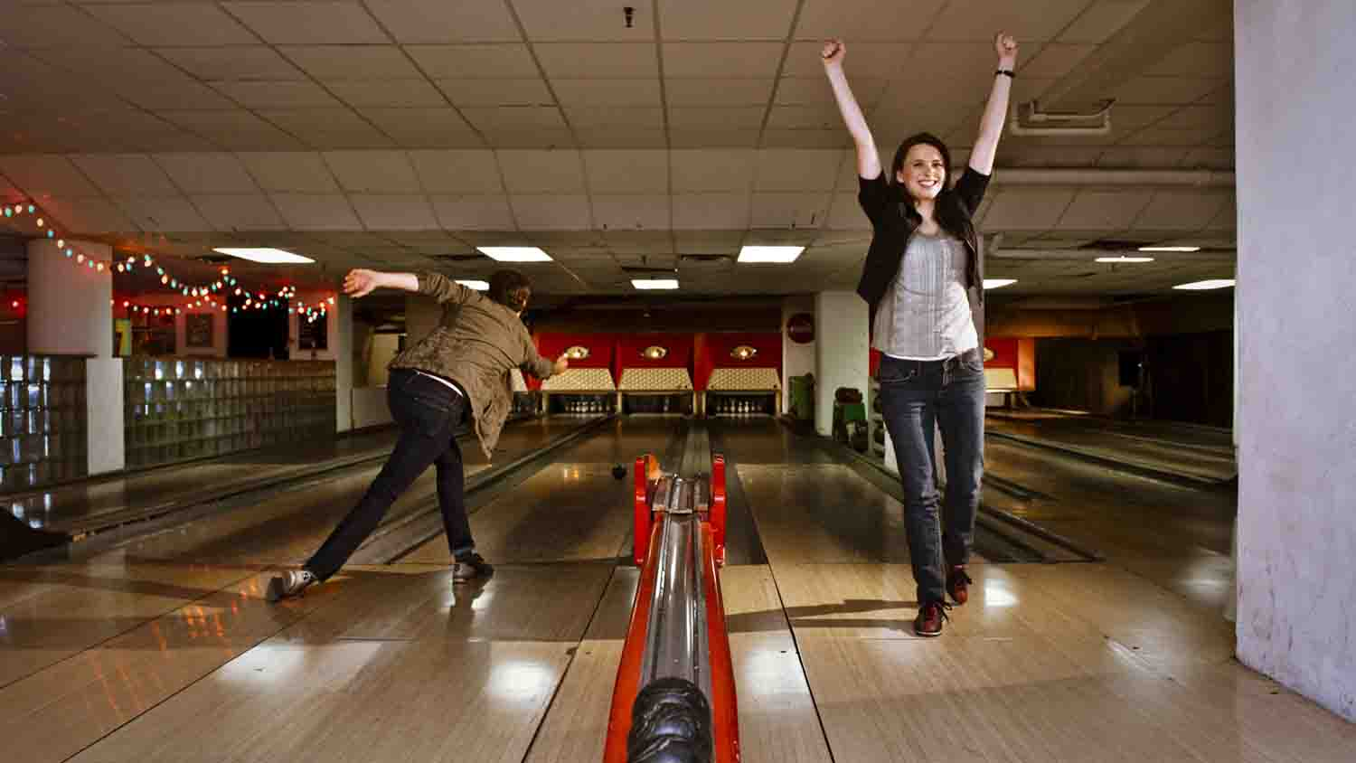 Duckpin Bowling in Fountain Square