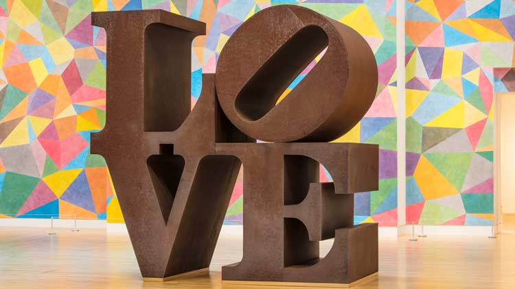 LOVE Sculpture at the IMA