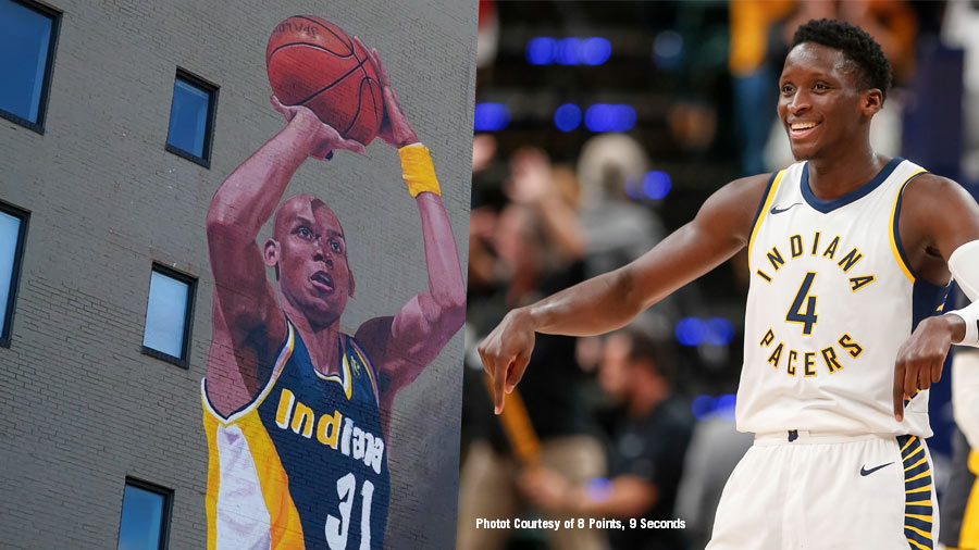 Reggie Miller and Victor Oladipo