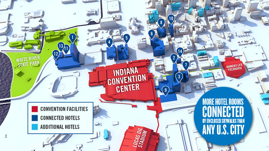 Connected Hotel Map