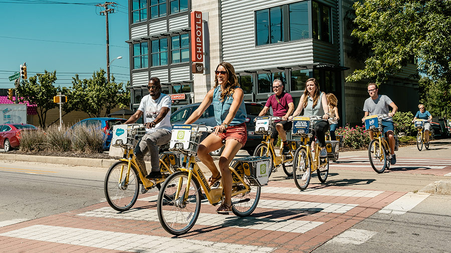 Pacers Bikeshare in Broadripple