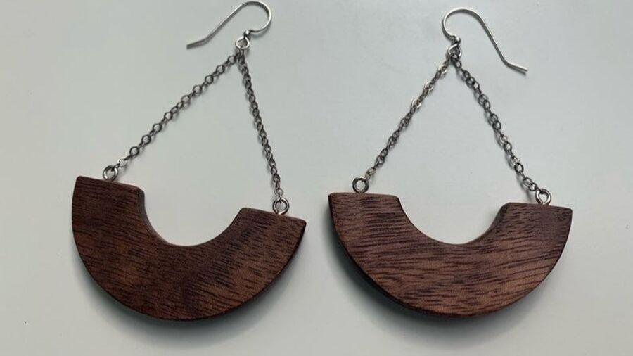 Surcle Wood earrings