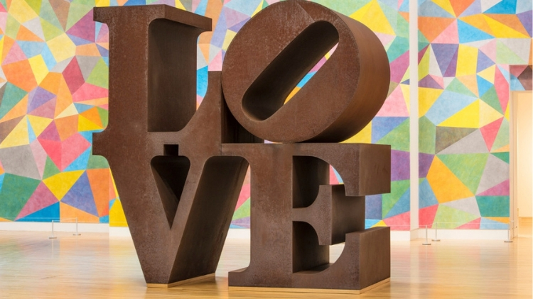 Love by Robert Indiana, the Indianapolis Museum of Art at Newfields