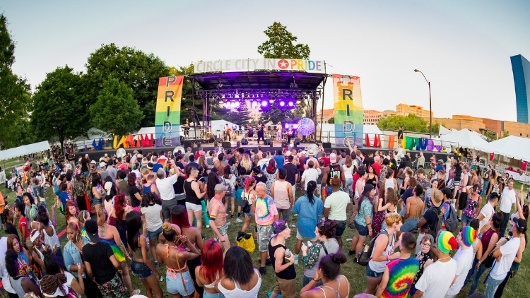 Indy Pride Festival at Historic Military Park at White River State Park