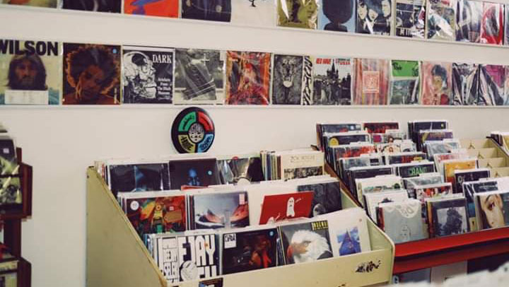Records at Irvington Vinyl and Books