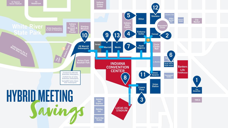 Hybrid Meetings Map