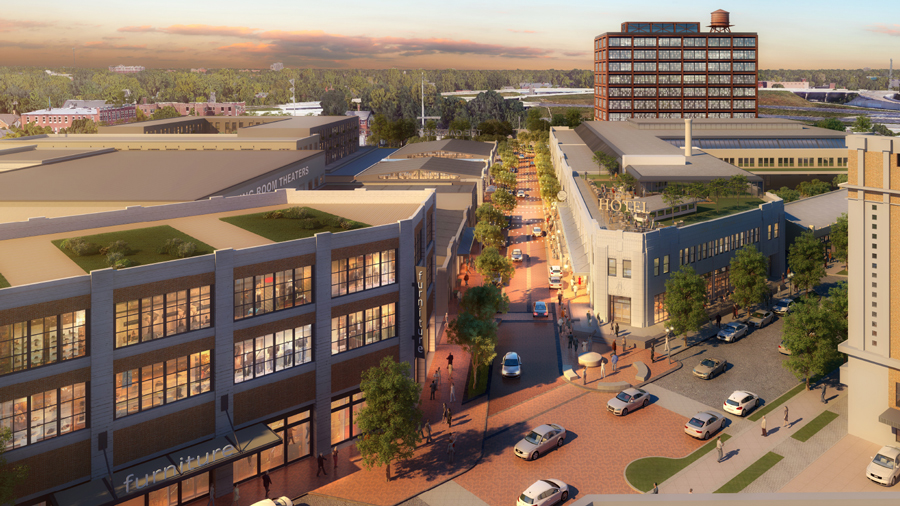 Bottleworks District Rendering
