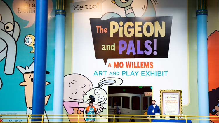 Pigeon and Pals Facade at the Childrens Museum