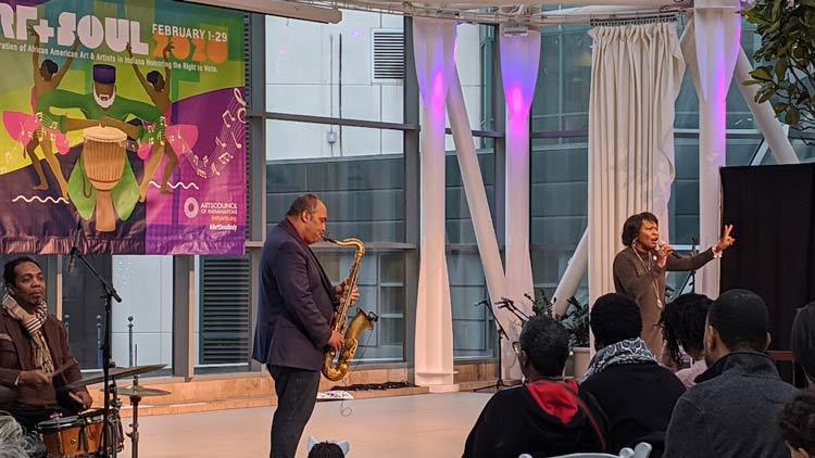 Art & Soul Saxophonist on Stage
