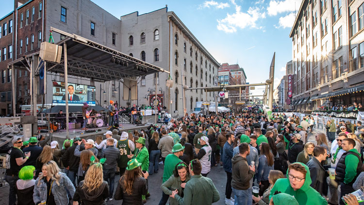 Party on Georgia Street in Downtown Indianapolis