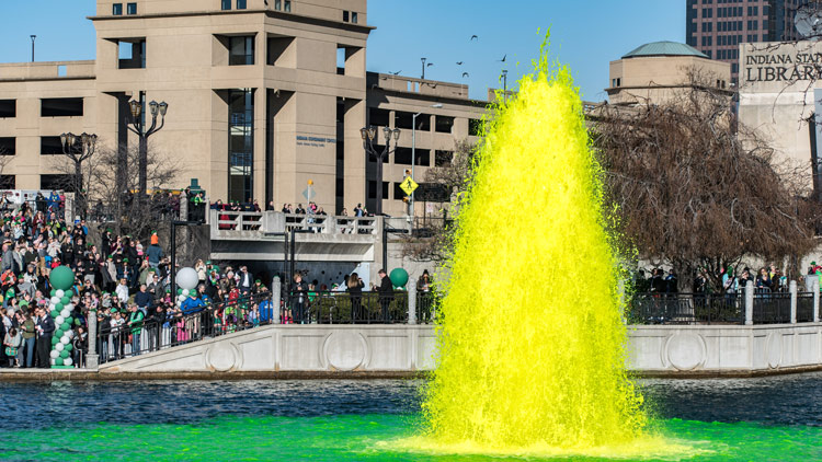 Fountain in the Central Canal Green