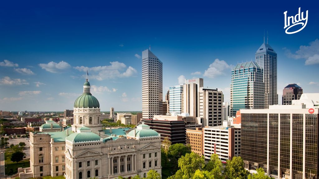 Statehouse and Downtown Indy