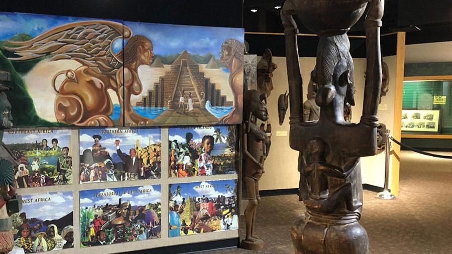 history exhibits at the Crispus Attucks museum