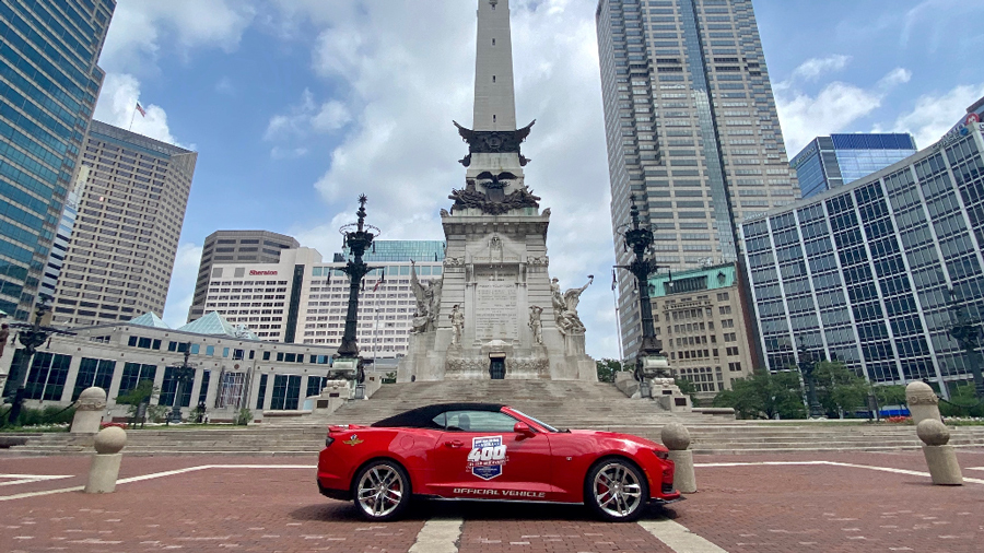 Red Brickyard Car on Monument Circle