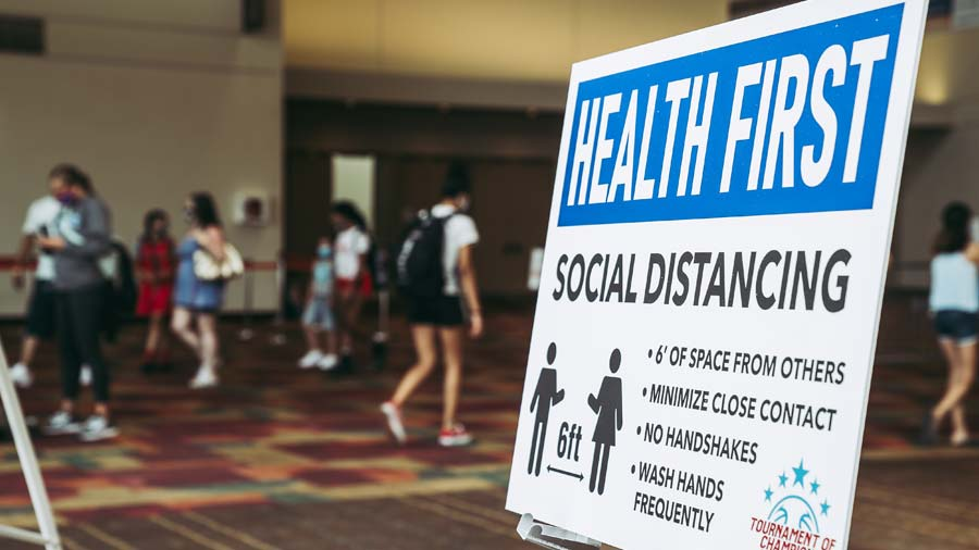 Social Distancing in the Indiana Convention Center