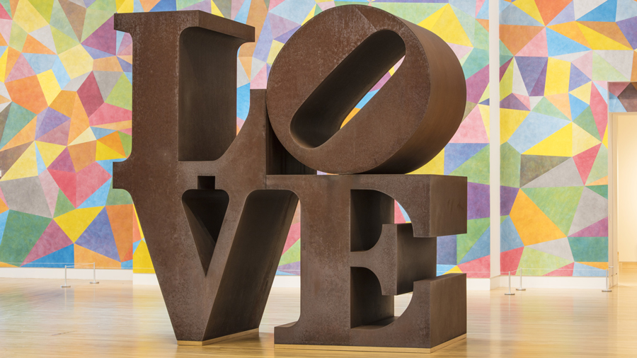 Robert Indiana LOVE Sculpture at Newfields