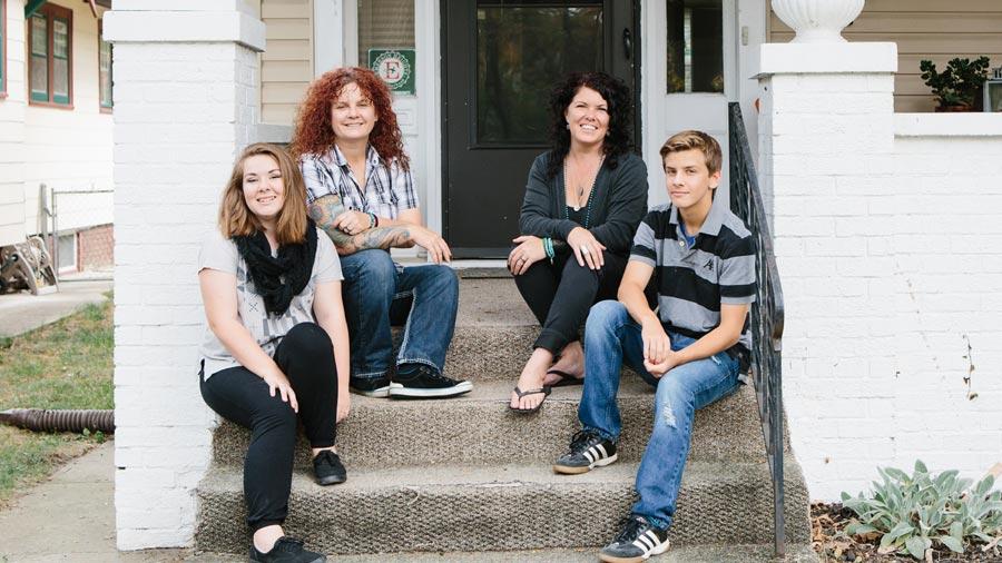 Jamie and Martine family
