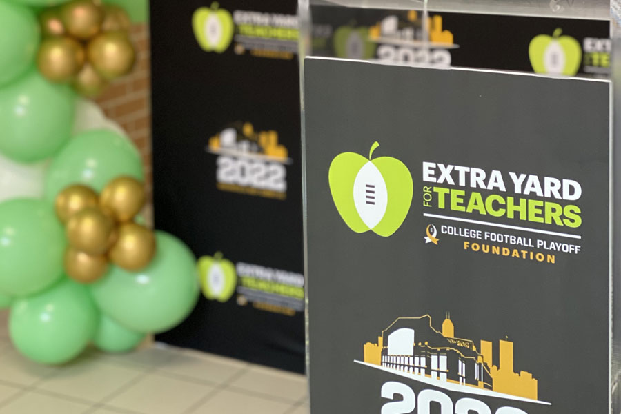 2022 COLLEGE FOOTBALL PLAYOFF HOST COMMITTEE AND CFP FOUNDATION UNVEIL FIRST MEDIA CENTER MAKEOVER AS PART OF LEGACY PROJECT 1
