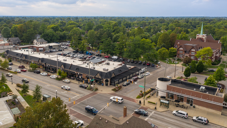 A view of Irvington, Indianapolis.