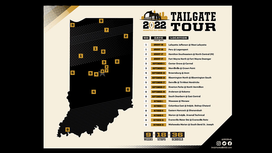 Tailgate Tour Map