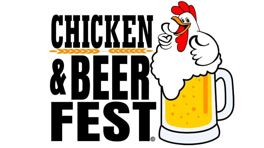 "Logo that reads ""Chicken & Beer Festival"""