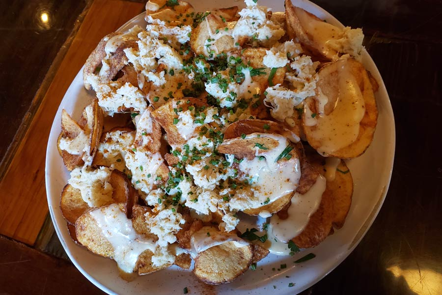 Crab Chips with Smoked Cream Cheese